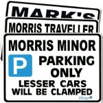 Car Make Parking Signs